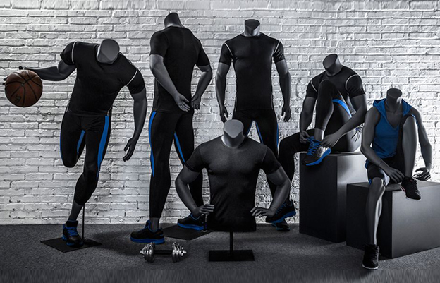 headless sport male mannequin