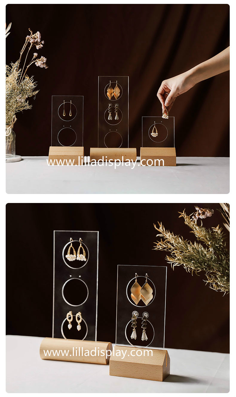 Lilladisplay-crystal acrylic material  6 sizes available best selling earring display stand #201904