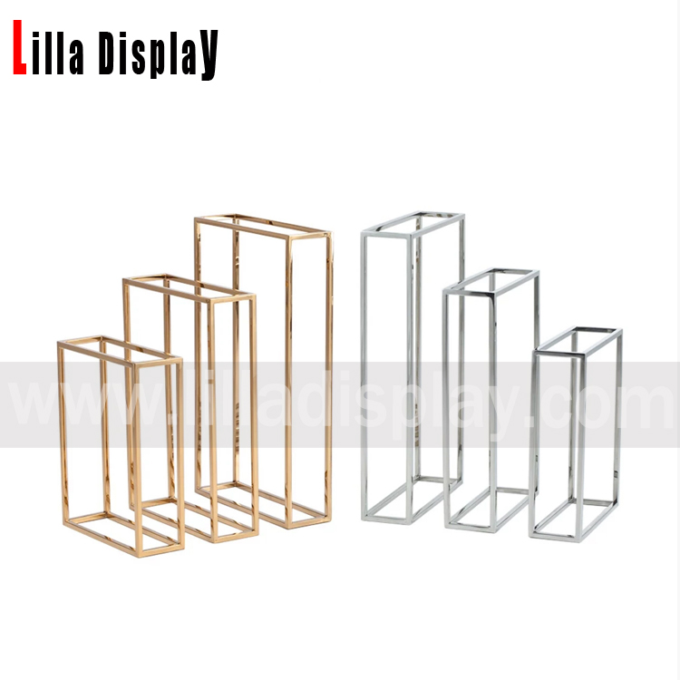 Lilladisplay- 4 sizes metal tube frame display set gold chrome 20190525