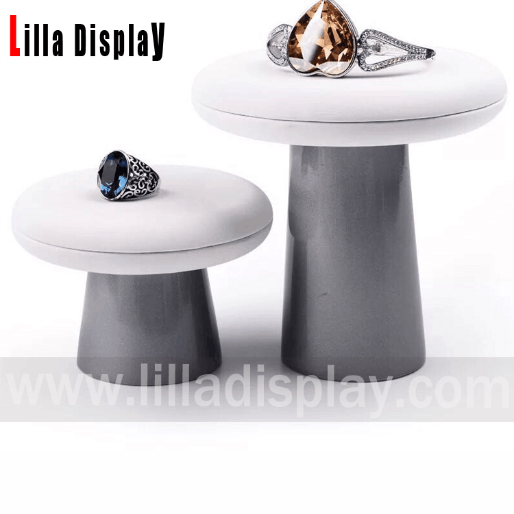 Lilladisplay-Rings and bracelet multifunctional PU material 2 sizes display tray Pu201901