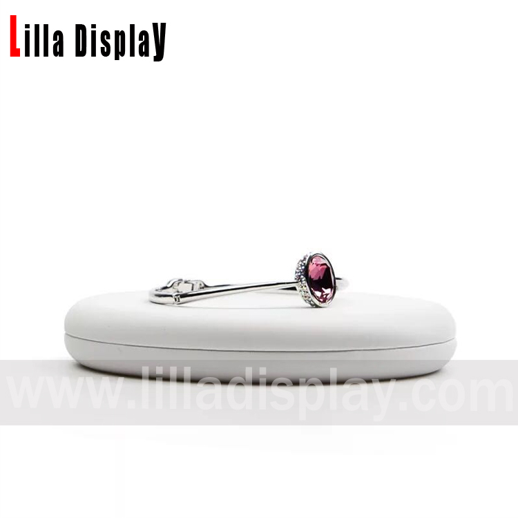 Lilladisplay-single tray jewelry display stand for bracelet display LL-B201901  white and black color available