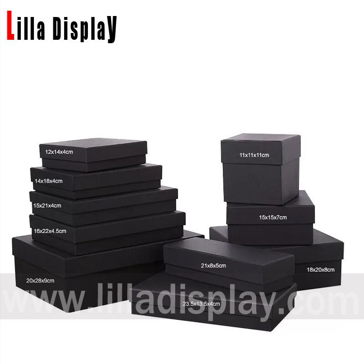 Multi Größen schwarz Kraftpapier Verpackungskarton Bestände