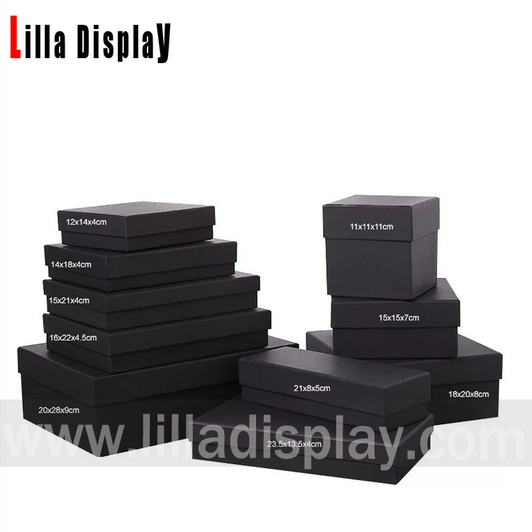 Multi størrelser sorte kraftpapir papir emballage kasse bestande