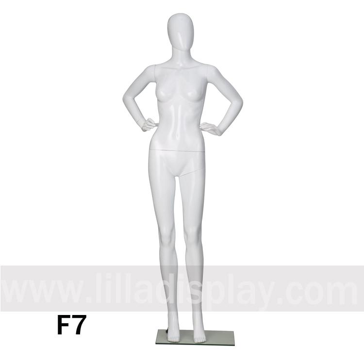 Lilladisplay hot selling female egghead window display mannequin F7