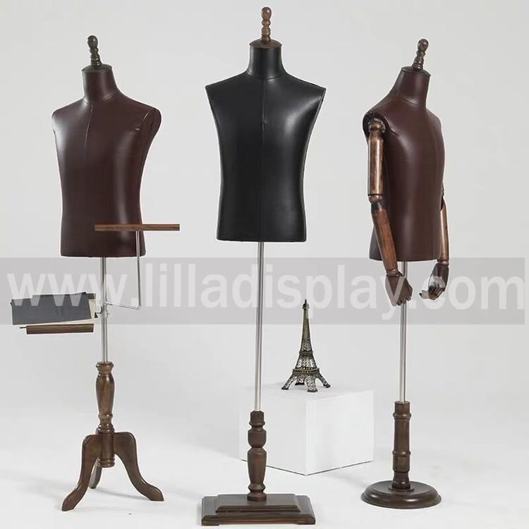 forme robe vente chaude mâle Lilladisplay mannequin du haut du corps