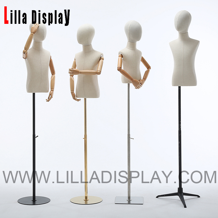 Lilladisplay Adjustable child mannequin bust dress form LDC