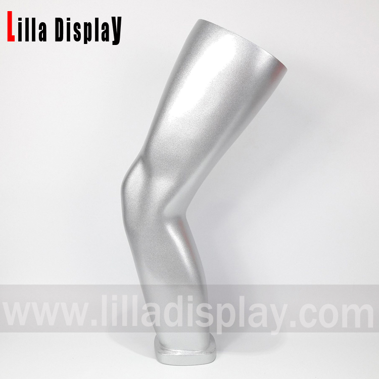lilladisplay-silver glossy sports mannequins knee form KN01