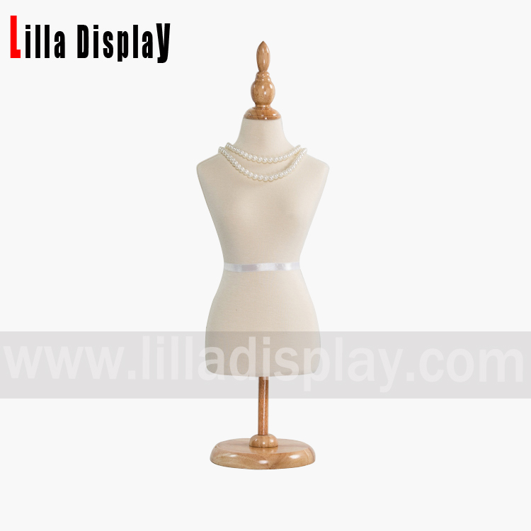 lilladisplay 1/2 mini size white cotton female mannequin dress bust form MN-0201C