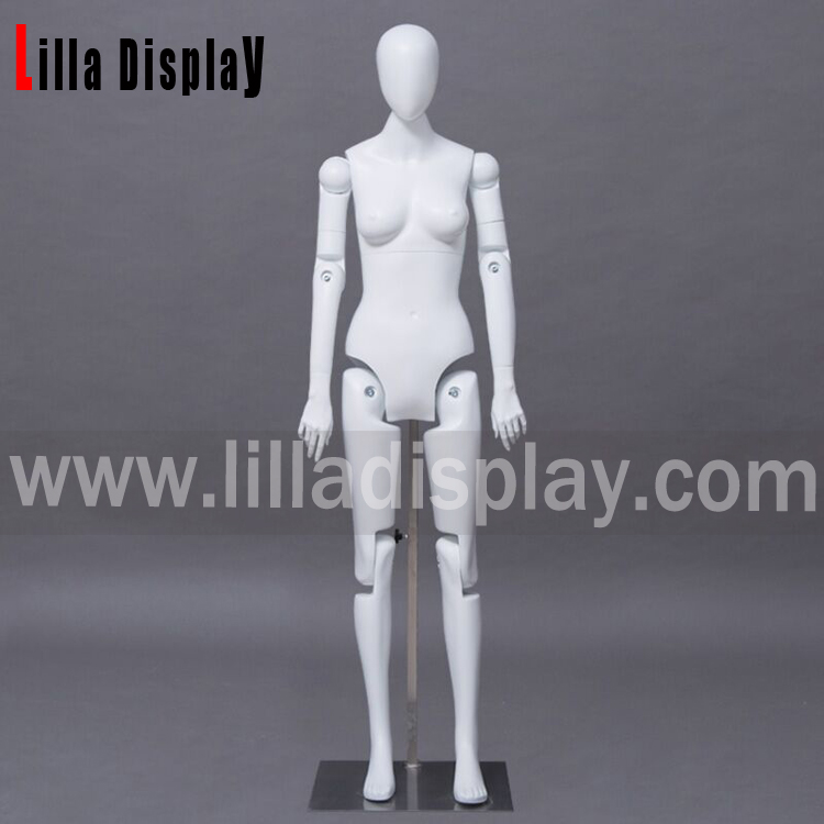 Lilladisplay robotic egghead articulated posable female display mannequin RFF-1