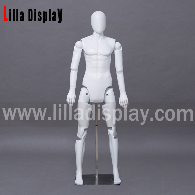 Lilladisplay articulated flexible joints robotic male display mannequin RMM-1