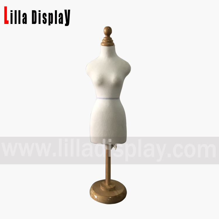 lilladisplay cheap economy pinnable 1/2 mini female bust dress form mannequin for design sewing  EMNC01