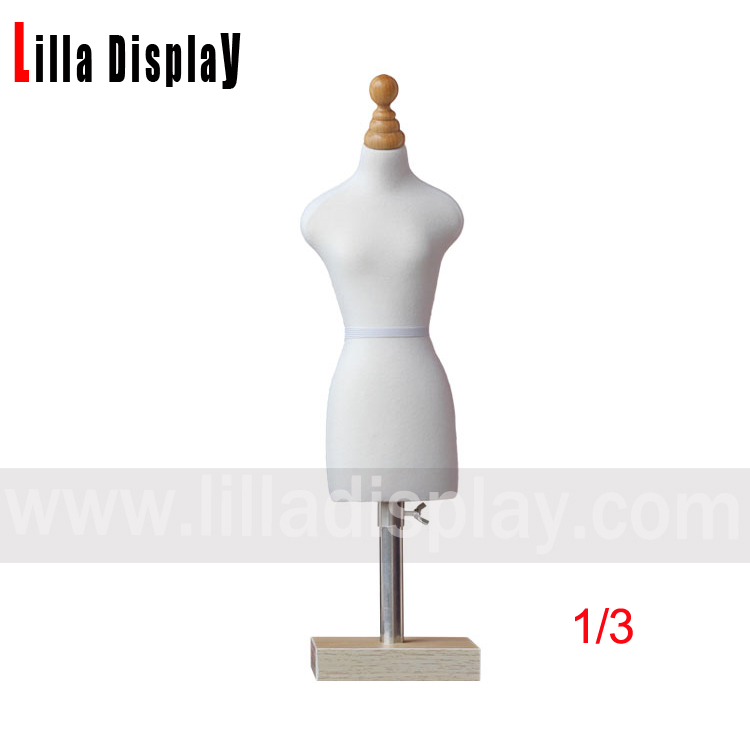 lilladisplay cheap economy pinnable 1/3 mini female bust dress form mannequin for design sewing Emnc02