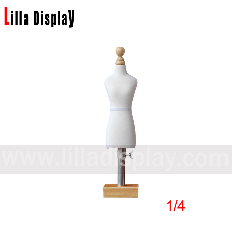 lilladisplay cheap economy 1/4 mini pinnable female bust dress form mannequin for design sewing Emnc03
