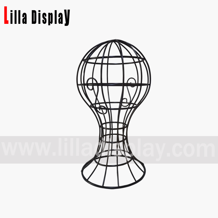 Lilladisplay metalen swarte tried hoed display stand WTD-01