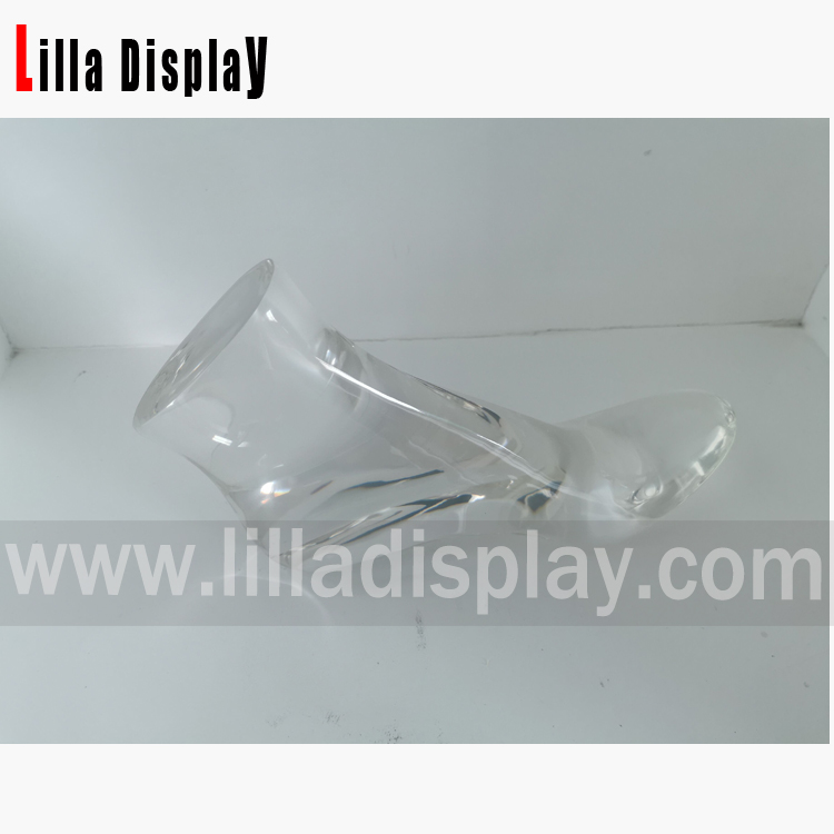 Lilladisplay cheap resin transparent mannequin foot form for 10CM high heels shoes display for sale RF-2