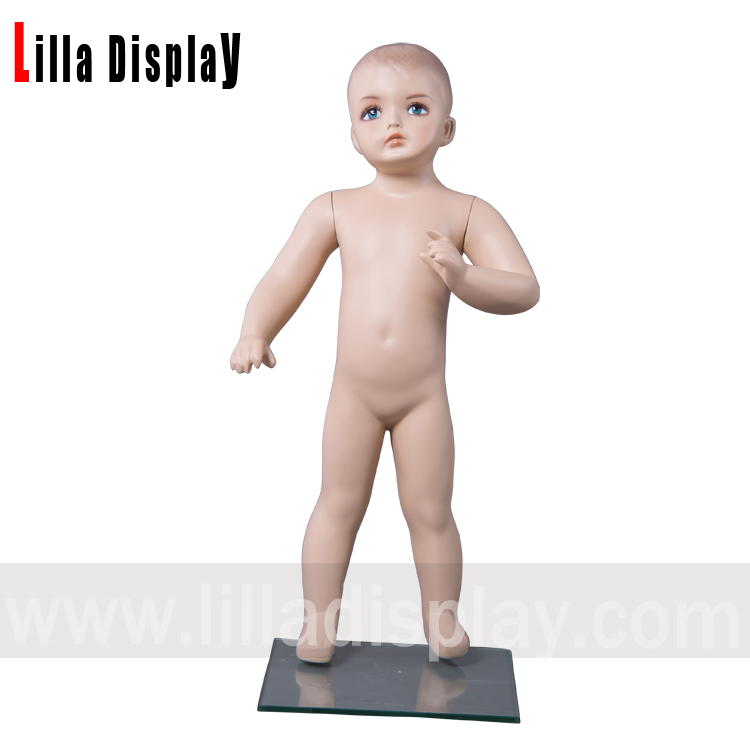 Lilladisplay-baby-1 realistic toddler baby child standing mannequin with makeup height 78cm