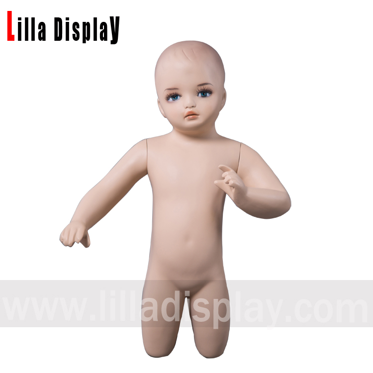 lilladisplay baby-2 realistic toddler baby child kneeling mannequin with makeup height 60cm