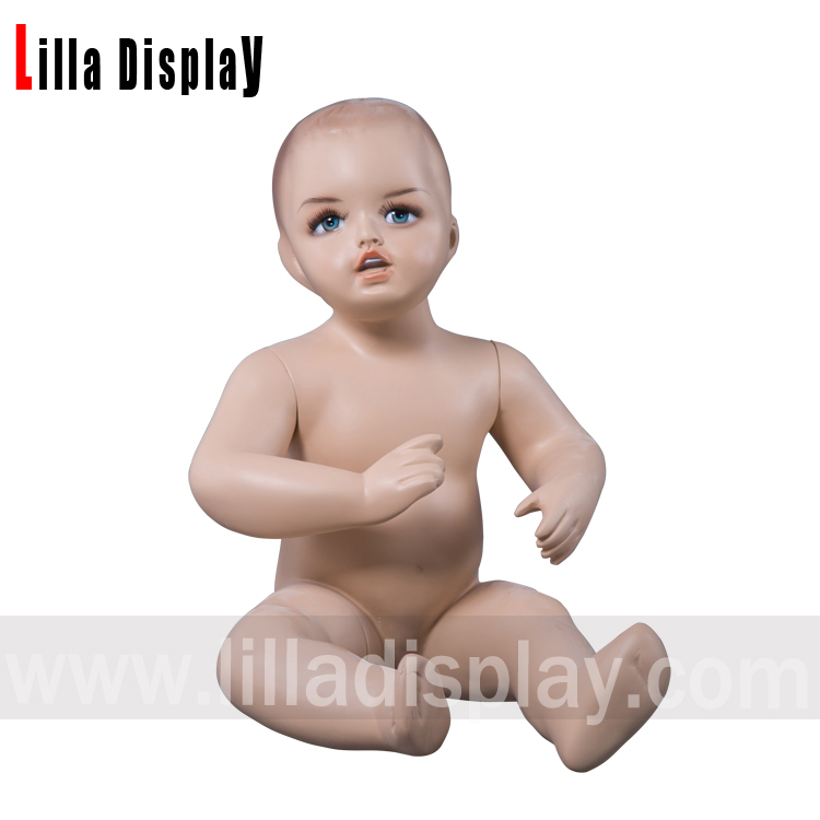 lilladisplay baby-3 realistic toddler baby child sitting mannequin with makeup height 48cm
