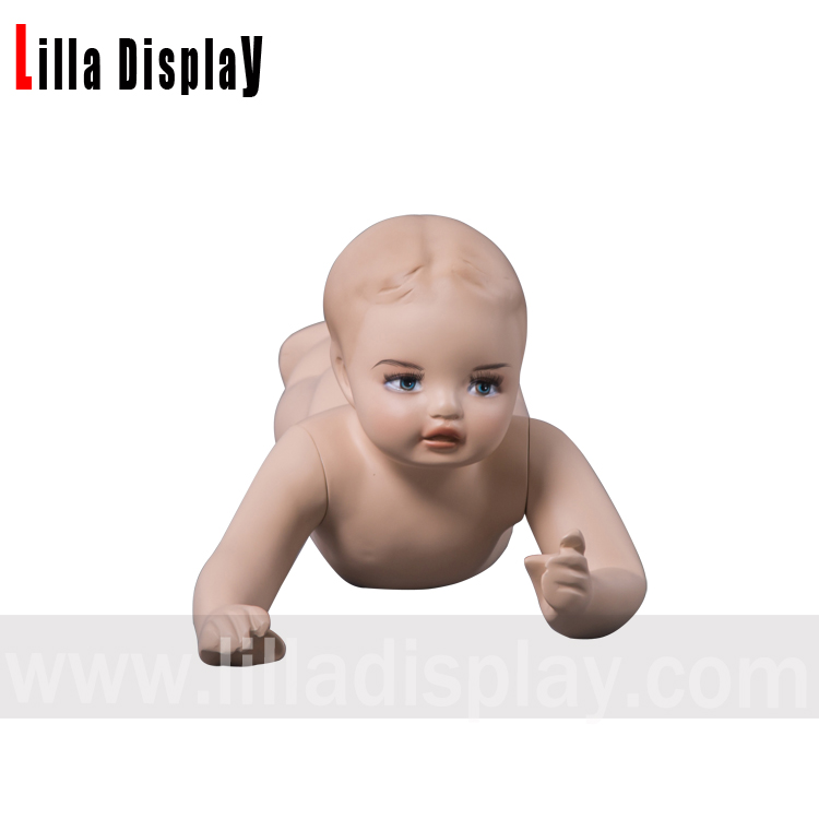 lilladisplay baby-4 realistic toddler baby child prone posture mannequin with makeup