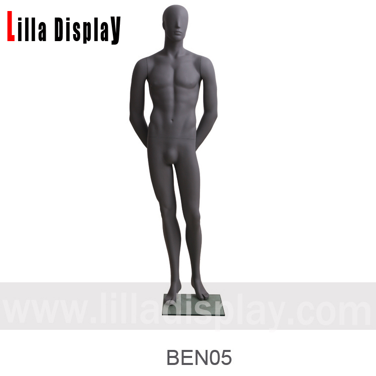 dark gray back arms relaxing male abstract mannequin BEN 05