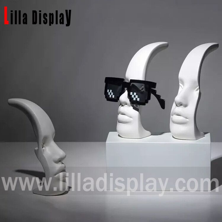moon face mannequin head for sunglasses display-lily