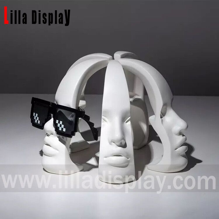 lilladisplay-2020 new design moon face mannequin head with nose for sunglasses display lily