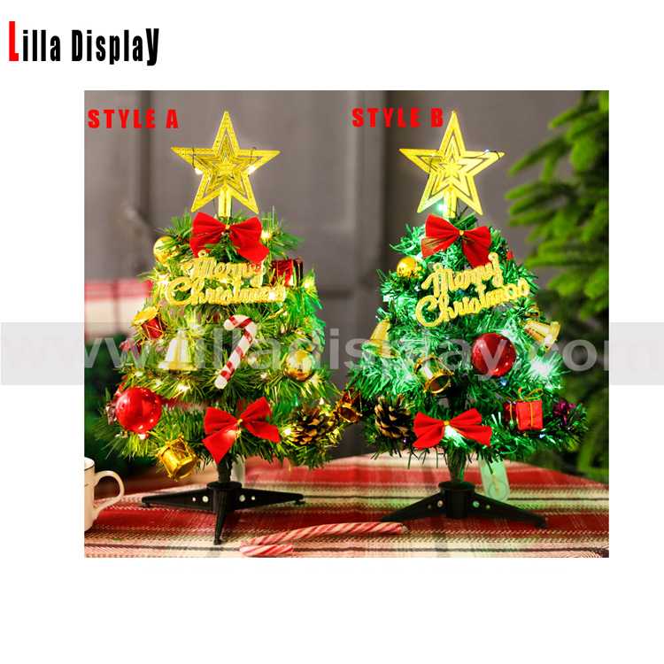 30cm height table display colored light x'mas tree MX01-A