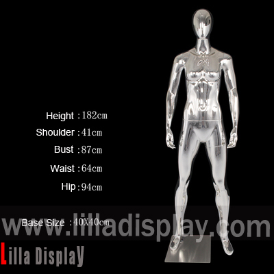 lilladisplay female chrome sport ahtletic mannequin JR-102