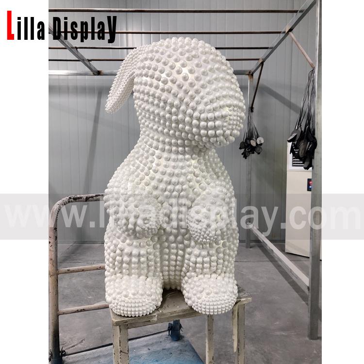 lilladisplay hjem dekor butikk display glassfiber kanin statue