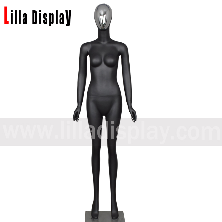 lilladisplay silver face egghead female mannequin HT-2