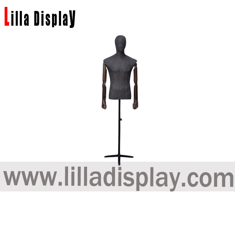 lilladisplay male tailor jersey fabric dress form HMS01 mannequin torso