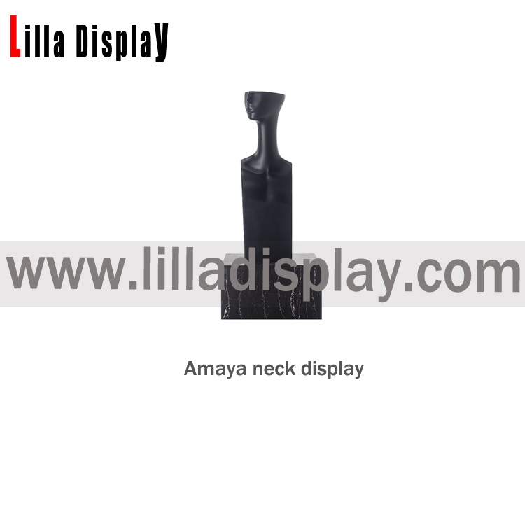 stylized long neck style female mannequin head with Shoulder Amaya04