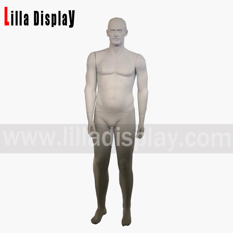 lilladisplay realistic lifelike male makeup plus size male manneuin RM-3