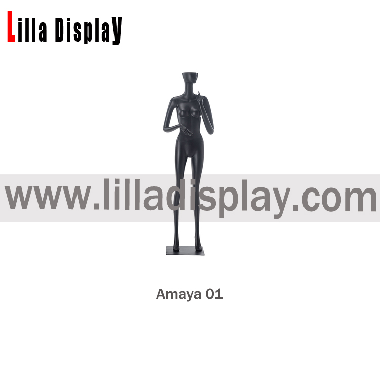 full body standing half-face abstract stylized female mannequin amaya01