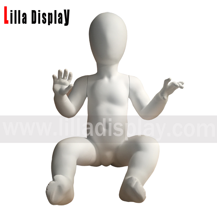 จอแสดงผลสีม่วง 6 months egghead white color toddler baby mannequin baby02
