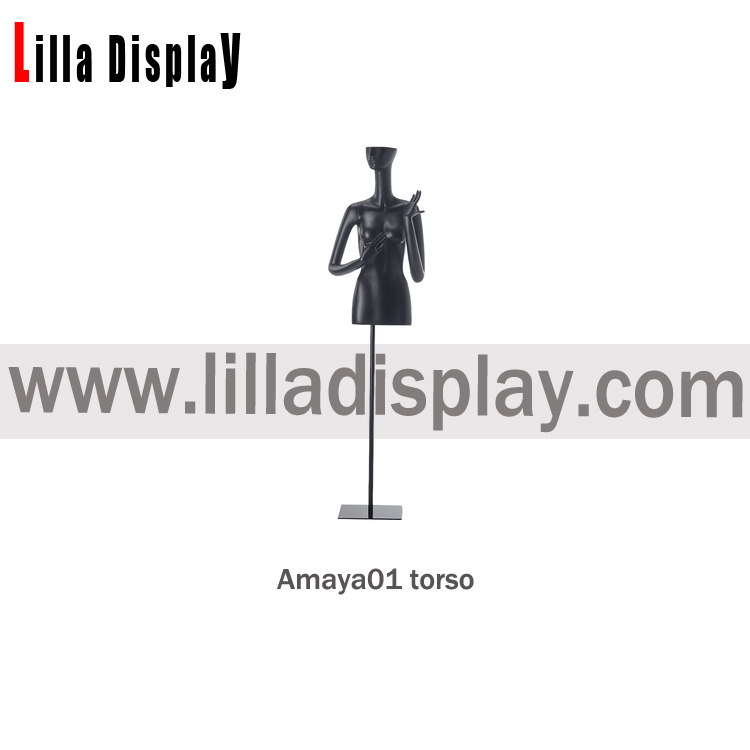black color stylized female mannequin torso Amaya03