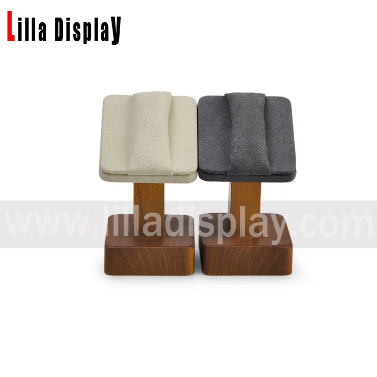 lilladisplay wooden jewerly rings display prop with 2 colors velvet top rings holder DBN01