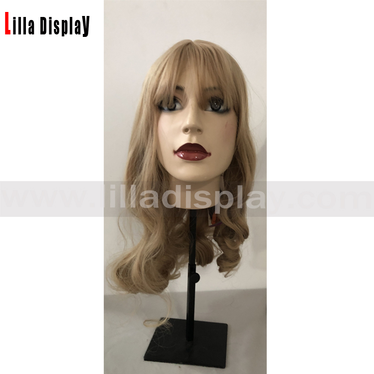 Lilladisplay light blond curly hair female wig for makeup mannequins