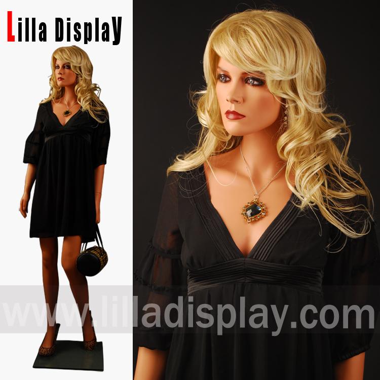 Lilladisplay dark skin European makeup blond woman female mannequin LEM1