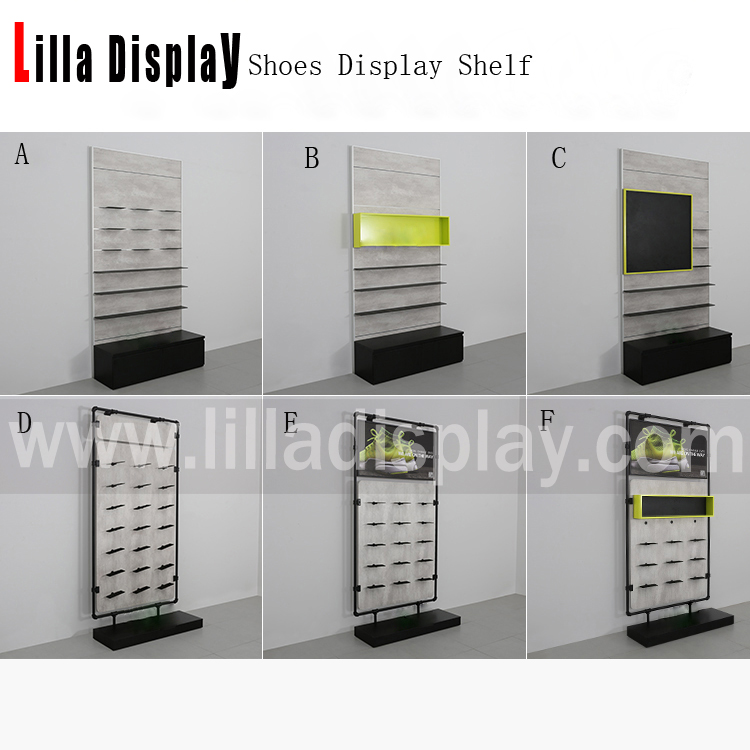 Lilladisplay 2020 new design wall mounted shoes display shelf shoeshelf01