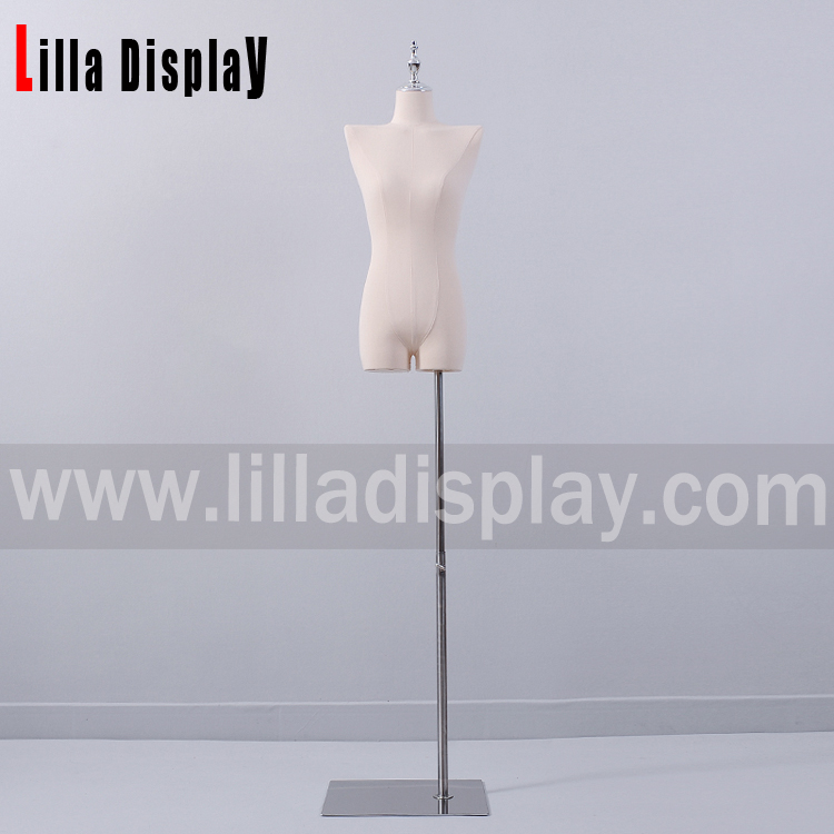 Lilladisplay silver chrome adjustble dress form stand Base02