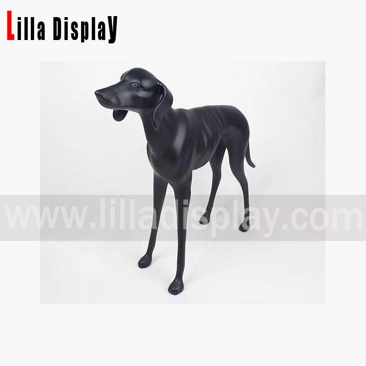 svart matt farge Weimaraner Labrador Retriever displayfigur for butikk- og boliginnredning