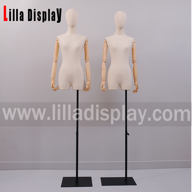 adjustable height black color square dress form base stand Base06