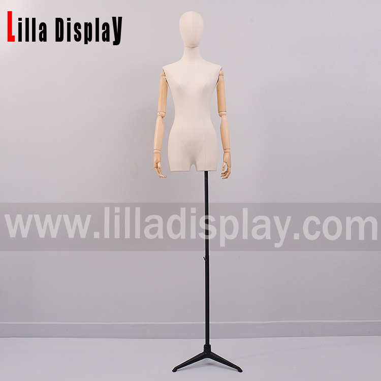 lilladisplay black color adjustable height tripod dress form stand Base05