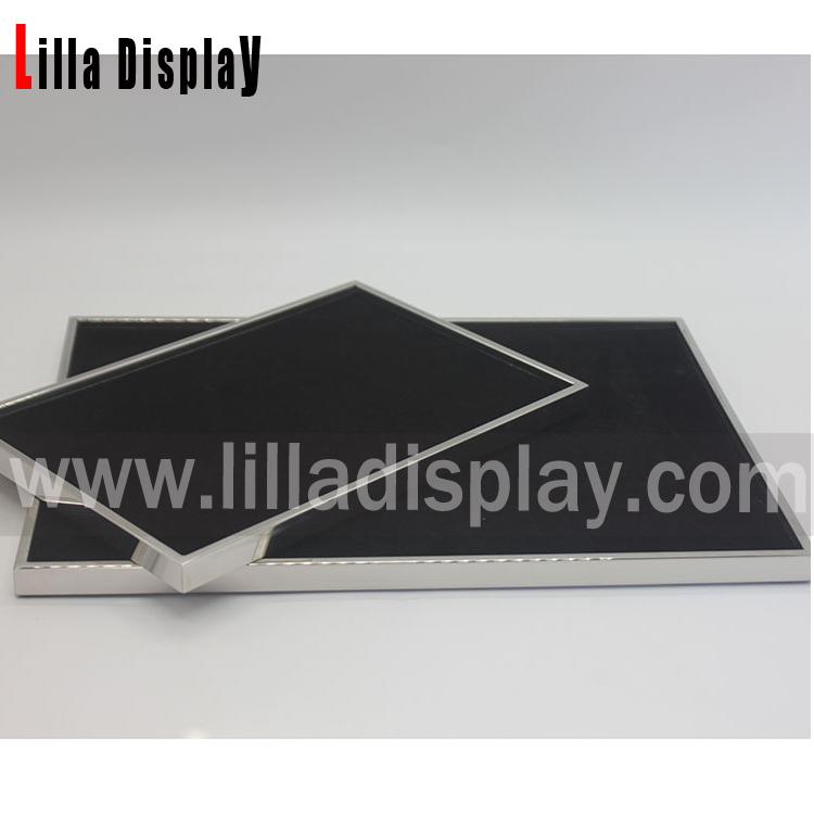 lilladisplay gümüş renk dekorasyon siyah kadife metal güneş gözlüğü jewlery ekran plakası S02