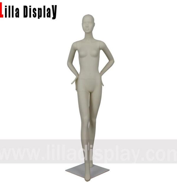 lilladisplay walking pose luxury stylized female mannequin with waist on hips Gianna03