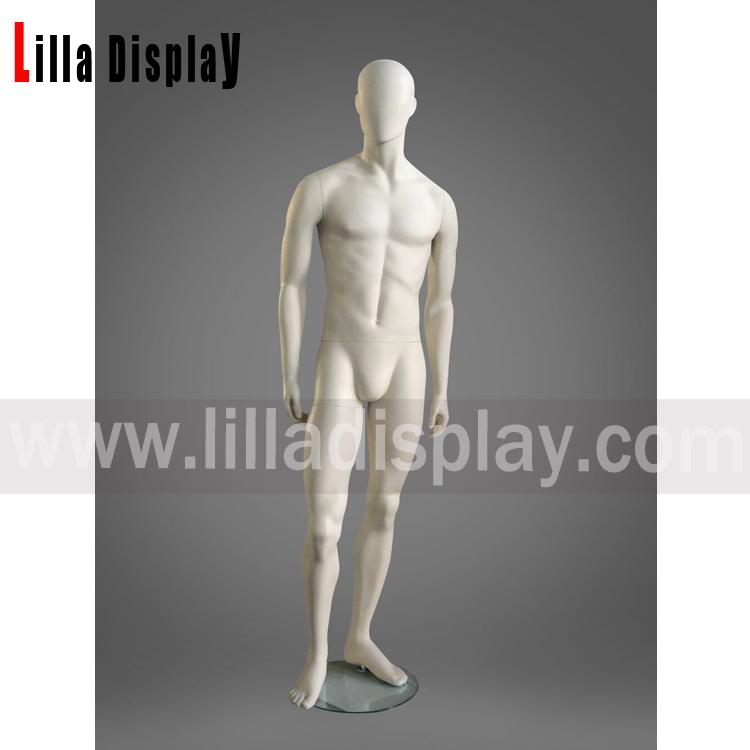 Lilladisplay afslappet udgør abstrakt ansigtsløs mandlig mannequin Jax04