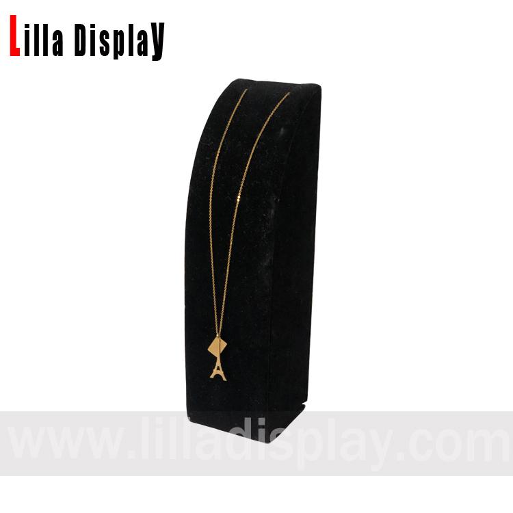 پایه گردنبند مخملی مشکی شیب دار Lilladisplay NS04