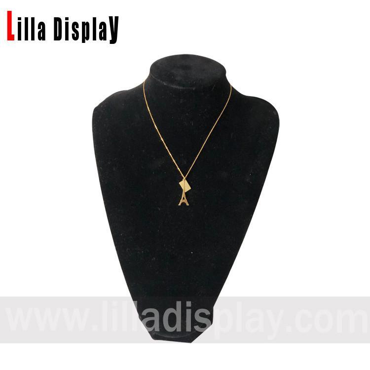 نمایشگر گردنبند جواهرات مخمل مشکی Lilladisplay Pinnable bust NS05