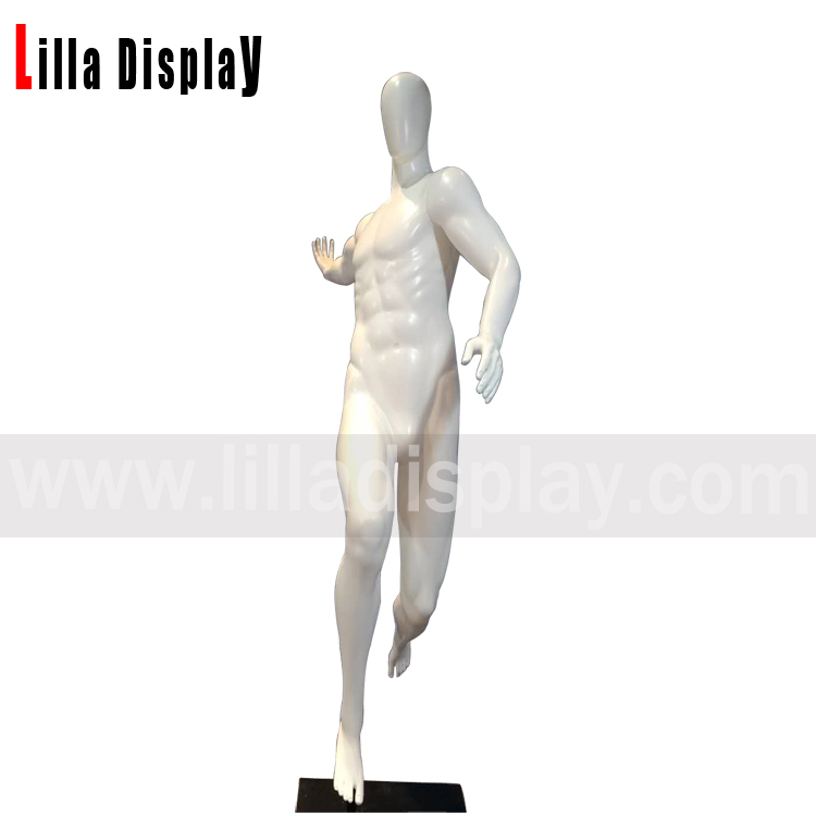 Lilladisplay  unbreakable white glossy male slam dunk basketball player mannequin H-9
